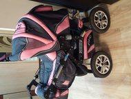Коляска-трансформер Rico-Grand Надувные колеса снимаются, регулируется по высоте и направлению движения коляски ручка, регулируется спинка и подножка,, Алапаевск - Детские коляски