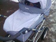 коляска зима-лето Продам коляску зима-лето трансформер. К ней ещё переноска. В хорошем состоянии, Альметьевск - Детские коляски