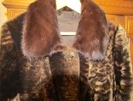 Челябинск: Полушубок мутоновый Полушубок удлиненный, норковый воротник, отделка кожей, на пуговицах, рукав отложной, р-р 48-50, рост до 180, заводское производст