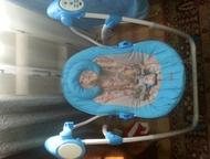 Челябинск: Детская электрокачель Продам электрокачель . В отличном состоянии, потертостей, царапин нет, на ножках даже осталась защитная пленка, как при магазинн