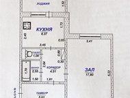 Димитровград: Циолковского 3 Панельный дом 6-й этаж из 9-ти 1-комнатная квартира планировки мобиль  Общая площадь – 35 кв. м.   Жилая комната – 18 кв. м.   Площадь