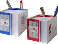 Канцелярский набор с календарём на 2016 год Канцелярский набор WALZ 8105 с подставкой под ручки, бумажным блоком для записей и календарём на 2016-2017, Екатеринбург - Рекламные и PR-услуги