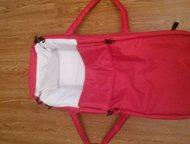 продам переноску для новорожденных продам переноску для новорожденных красного цвета, использовалось два раза., Хабаровск - Детские коляски