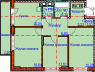 продам 3 к, кв на ул 9 подлесная ЖК Алиса 6 Продам 3 к. кв ЖК Алиса 6 в новом доме с развитой инфраструктурой на 4 этаже 6 этажного дома, площадью 73 , Ижевск - Продажа квартир