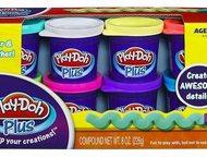 Набор из 8 банок Play Doh plus Особенности:  этот пластилин более пластичный, чем другие, с его помощью малышу удастся слепить для своих шедевров даже, Кемерово - Для детей - разное