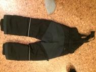 Зимний комплект адидас Пуховик и штаны со спинкой зимние рост 110, цвет черный. В хорошем состоянии. Пуховик теплый, до -20 носили просто с одной толс, Кемерово - Детская одежда
