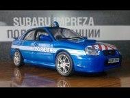 Липецк: полицейские машины мира №4 Subaru impreza полиция франции цвет:синий, масштаб:1:43, сделан из металла и пластика, модель в блистере, без журнала