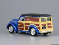 Липецк: автомобиль на службе №22 Москвич-400-422 почта ссср цвет:синий с коричневым, масштаб:1:43, сделан из металла и пластика, модель в блистере, с журналом