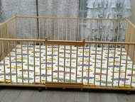 Москва: Манеж детский самый большой деревянный 2, 0х2, 5м для двойни с калиткой для малышей Манеж на заказ по индивидуальным размерам. Большой детский деревян
