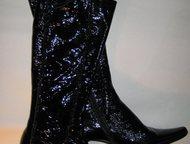 Продаю сапожки в стиле Винтаж 38 р. кожа Продаю сапожки жен. в стиле Винтаж 38 р. , натуральная лакированная кожа, низкий изящный каблук, отличная неп, Москва - Женская обувь