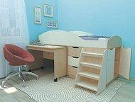 Детская кровать, минипрограмма Караван 1 Мебельная минипрограмма для ребёнка 3-12 лет из ЛДСП. Укомплектована: кроватью, выдвижным столом, выдвижными , Москва - Мебель для детей