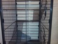клетка для хорьков Клетка-вольер для животных (хорьков, белок, шиншилл, взрослых крыс) с выдвижным пластиковым поддоном глубиной 3, 5 см, полностью из, Нижний Тагил - Домашние животные - разное