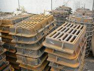 Дождеприемник чугунный прямоугольный дм2 (С250) Дождеприемник устанавливается на сливные колодцы на общегородских автомобильных дорогах.   930х580х120, Новосибирск - Строительные материалы