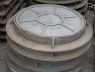 Люк чугунный пешеходный Люк чугунный тип-Л устанавливается на газонах и пешеходных зонах. Двух ушковый, вес-64 кг, Новосибирск - Строительные материалы