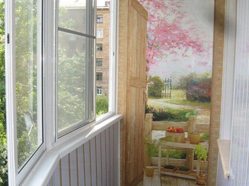 Декор балконов с панели