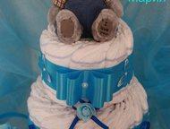 Торты из памперсов/подгузников под заказ Недорого и красиво изготовлю тортики из памперсов. такой подарок Вы можете преподнести на рождение малыша, кр, Ростов-На-Дону - Товары для новорожденных