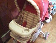 Коляска трёхколёсная Трёхколёсная коляска лёгкая и удобная, со столиком для малыша и пеналом для мамы, большая вместительные корзина, ремни безопаснос, Тольятти - Детские коляски